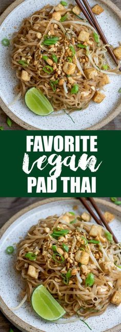 This is my favorite vegan pad thai! Its filled with authentic. This is my favorite vegan pad thai! Its filled with authentic flavor healthy and easy to make! Veggie Recipes, Asian Recipes, Whole Food Recipes, Vegetarian Recipes, Cooking Recipes, Thai Cooking, Cooking Rice, Dinner Recipes, Vegan Foods