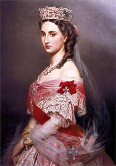 Portrait of Charlotte of Belgium, 1864 - Franz Xaver Winterhalter