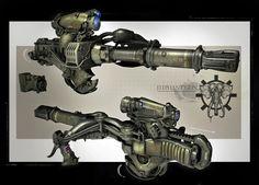 GOW3 Elephant gun, James Hawkins on ArtStation at https://www.artstation.com/artwork/G8dV3