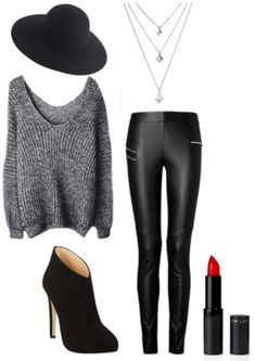 Get The All Black and Grey Look... - My Fash Avenue