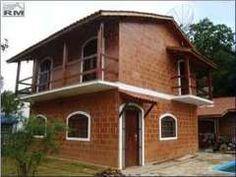 Casa de bloco cerâmico estrutural aparente resinado