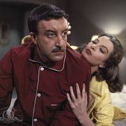 Still of Peter Sellers and Capucine in The Pink Panther (1963)