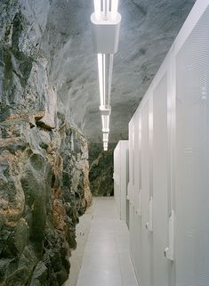 WikiLeaks Headquarters | The Data Center Pionen – White Mountain, designed by Albert France-Lanord Architects