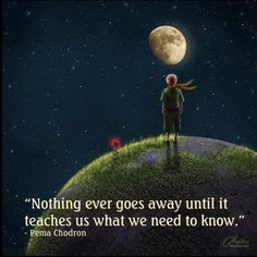 Nothing goes away until it teaches us what we need to know..
