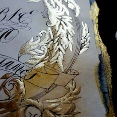 Gold ornate wedding invitations with dark and moody tones by Crimson Letters. Visit the link to see the full collection.