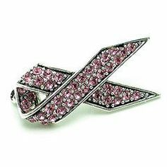 Pink Austrian Rhinestone Pink Ribbon Breast Cancer Awareness Silver-Tone Brooch Pin Fashion Jewelry. $9.95. Stone: Austrian Rhinestone. Metal: Silver Plated. Size: 0.75 inch x 1.25 inch