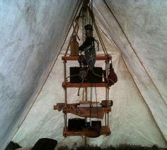 Hanging shelves for Viking A frame tent