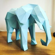 Elephant almost ready #lowpoly #papercrafts #papercrafting #papercraft #instamood #instagood #igaddict #igers #nature #animal #animals by meshcrafts
