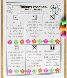 Fluency Practice Roll and Read This is from the Kindergarten April NO PREP Packets Read more about it on the blog Link in profile httpthemoffattgirlscomaprilfunfilledlearning