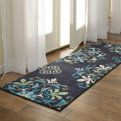Better Homes and Gardens Alessia Print Runner Rug, Multi-Color, 2' x 6' - Walmart.com