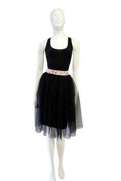 BusyGirl / Čierna tylová suknička - spodnička