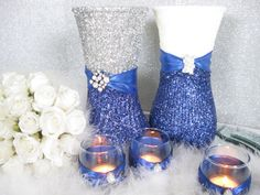 61 Best Royal Blue And Silver Affair Images Dream Wedding Wedding