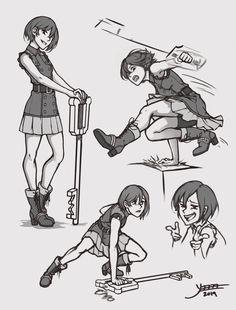 Xion action poses \o/ Xion Kingdom Hearts, Kingdom Hearts Characters, Cry Anime, Anime Art, Action Posen, Action Pose Reference, Drawing Reference, Figure Drawing, Kindom Hearts