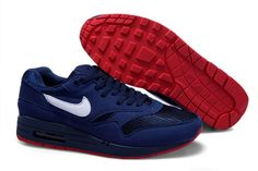 save off 46712 906f8 New Mens Nike Air Max 1 Trainers White Deepblue