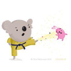 Coco Gigi Design: Karate Koala