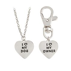 Treasure your best friend by having matching tags! Love my dog/love my owner engraved for you and a collar keychain for your friend. Handcrafted with zinc alloy material and are silver. Heart Pendant Necklace, Dog Tag Necklace, Your Best Friend, Best Friends, Pet Urns, Animal Jewelry, I Love Dogs, Jewelry Necklaces, Shop My