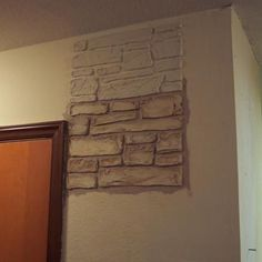 plain walls are transformed in to stone walls with joint compound, painting, wall decor Wall art Fake Stone Wall, Stone Walls, Brick Walls, Faux Brick, Faux Stone, White Wash Fireplace, Compound Wall Design, Stencil Designs, Wall Patterns