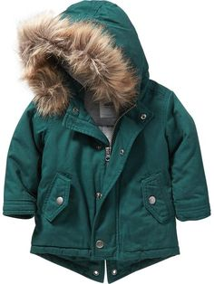 Faux-Fur-Trim Hooded Jacket for Baby