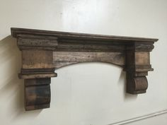 Rustic Arch Mantle Fancy Arch Mantle Fireplace mantle with corbels Fireplace Mantle Rustic Mantle Arch Wall Shelf Floating Shelf Decor, Fireplace Remodel, Fireplace Mantle, Remodel, Basement Remodeling, Rustic Remodel, Rustic Mantle, Mantle Shelf, Remodeling Mobile Homes