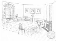 dessin chambre dappoint rdc - Dessin De Chambre