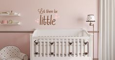Let Them Be Little Nursery Wall Quote by DakotasDecals on Etsy