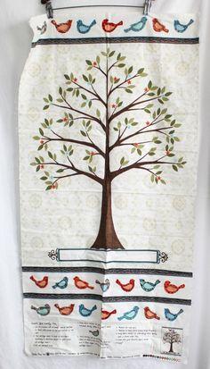 MODA Fabrics Family Tree Panel Deb Strain 19640 Japan 100% Cotton Geneology #MODA