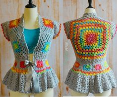 108 DIY Crochet Granny Square Jacket Cardigan Free Patterns Inspirations https://montenr.com/108-diy-crochet-granny-square-jacket-cardigan-free-patterns-inspirations/