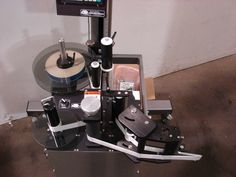 CTM labeling system with stand and peel plates.