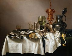 Willem Claesz Heda Still-life with Gilt Goblet painting for sale, this painting is available as handmade reproduction. Shop for Willem Claesz Heda Still-life with Gilt Goblet painting and frame at a discount of off. Dutch Still Life, Still Life Art, Rembrandt, Banquet, Dutch Golden Age, Dutch Painters, Painting Still Life, Oil Painting Reproductions, Vanitas