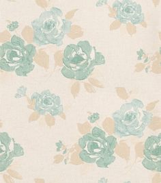 Blossom (217212) - Brewers Wallpapers - A pretty rose bush design in a hand painted watercolour style. Shown here in blue metallic on a weave effect cream background. Please order a sample for true colour match.