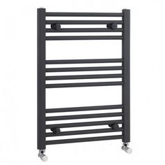 Buy nuie Straight Anthracite Ladder Towel Rails - 700 x from Tap Warehouse and receive huge savings off the RRP Best Radiators, Column Radiators, Modern Radiators, Black Towel Rail, Black Towels, Towel Radiator, Radiator Valves, Small Kitchen Sink, Shower Fittings