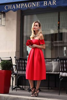 The Red Dress Wearing : Postolatieva red dress / Zara sandals / The Glory Lab ring / Parfois necklace / H&Mearrings / Chanel purse Fashion By Postolatieva