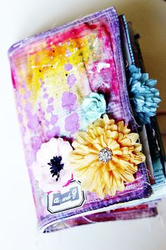 Mixed Media Art Journal Self-paced workshop by thegreenfrogstudio