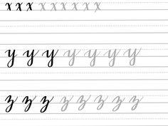 Brush Alphabet Practice Sheets - Google Drive