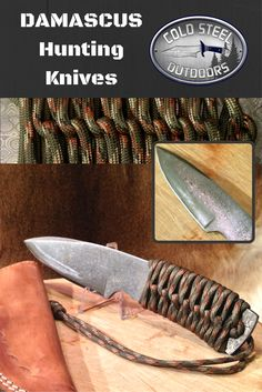 TAC Hunter from Cold Steel Outdoors.  World Class Damascus Steel Hunting Knives. http://coldsteeloutdoors.com/collections/damascus-steel-knives
