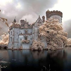 Chateau de la Mothe-Chandeniers in France. Photo by John Pilkington. Beautiful Castles, Beautiful Buildings, Beautiful World, Beautiful Places, Abandoned Houses, Abandoned Places, Fantasy Castle, Castle Ruins, Beautiful Architecture
