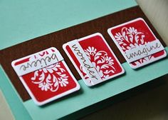 Cards made with Papertry ink