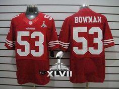 Nike 49ers  53 NaVorro Bowman Red Team Color Super Bowl XLVII Men s  Stitched NFL Elite d73498275