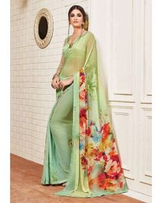 Beautifull Georgette Printed Saree