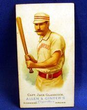 1887 ALLEN & GINTER  BASEBALL TOBACCO CARD  GLASSCOCK