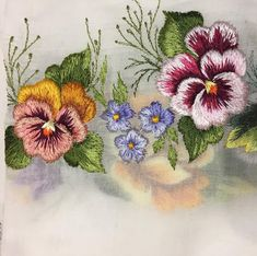Вышивка по тончайшему маркизету. Мои любимые цветы#embroidery #dekop #details #вышивка#