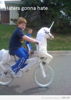 Let me give you a ride on the front of my bike!