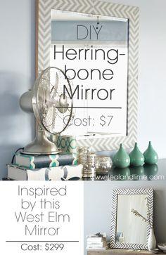 DIY Herringbone Mirror
