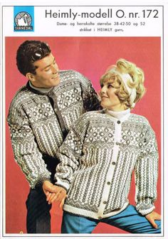 Einerbakken 172 Knitting Yarn, Knitting Patterns, Norwegian Knitting, Vintage Couples, Needlework, Sweaters, Cardigans, Embroidery, Stitch