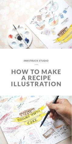 Tutorial on how to make a recipe illustration by Zakkiya Hamza of Inkstruck Studio. Illustrator Tutorials, Art Tutorials, Drawing Tutorials, Adobe Illustrator, Food Illustrations, Illustration Art, Watercolor Illustration Tutorial, Sketch Note, Watercolour Tutorials