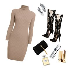 """Untitled #10"" by ariana-krasniqi on Polyvore featuring Rumour London, Yves Saint Laurent, Christian Dior and Chanel"