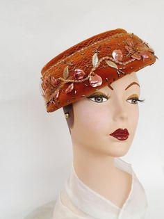 1940s or 1950s hat Frank Palma original by TheVintageHatShop