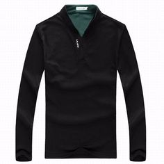 6 Colors Mens Sports Solid Color Long Sleeved Casual Cotton Polo Shirts