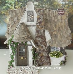 The Old Cottage Dollhouse 1 Inch Scale by cinderellamoments, sold