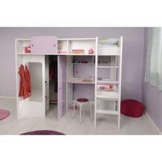 1000 ideas about lit sur lev on pinterest mezzanine. Black Bedroom Furniture Sets. Home Design Ideas